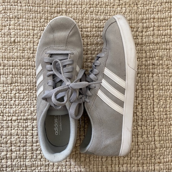 adidas Shoes   Grand Court Gray Suede